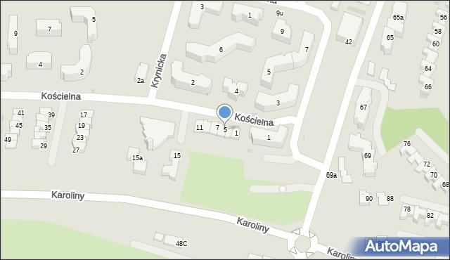Rzeszów, Kościelna, 5, mapa Rzeszów