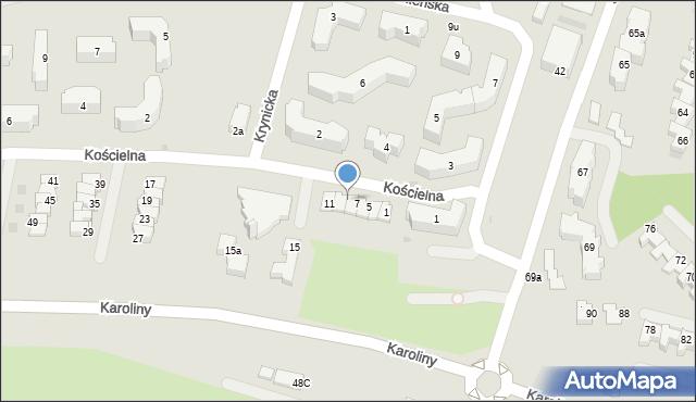 Rzeszów, Kościelna, 9, mapa Rzeszów
