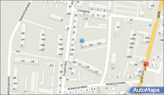 Słubice, Kopernika Mikołaja, 22, mapa Słubice