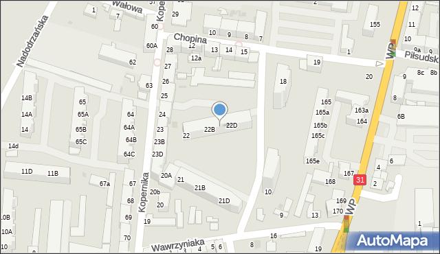 Słubice, Kopernika Mikołaja, 22C, mapa Słubice