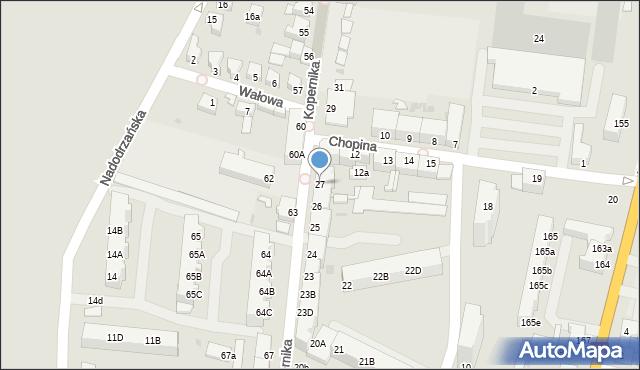 Słubice, Kopernika Mikołaja, 27, mapa Słubice