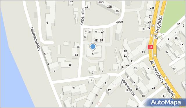 Słubice, Kopernika Mikołaja, 5, mapa Słubice