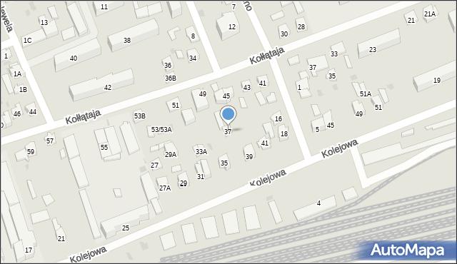 Sokółka, Kolejowa, 37, mapa Sokółka