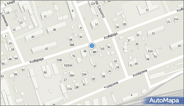 Sokółka, Kołłątaja Hugo, 47, mapa Sokółka