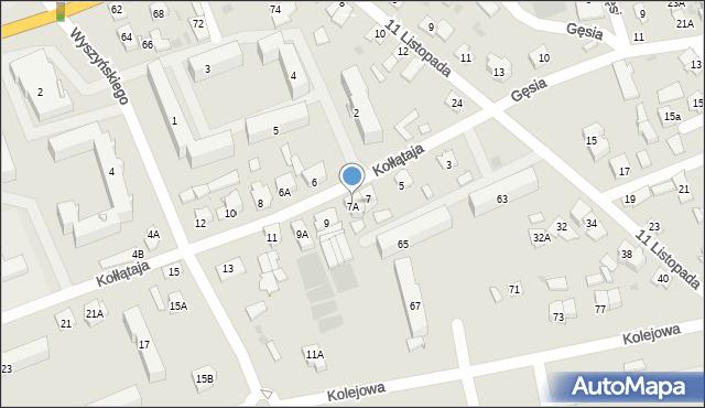 Sokółka, Kołłątaja Hugo, 7B, mapa Sokółka