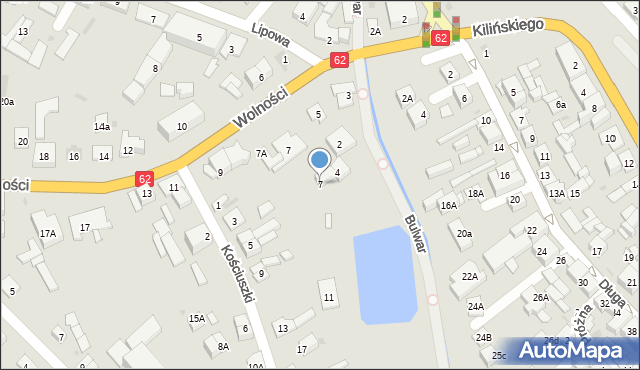 Sokołów Podlaski, Kościuszki Tadeusza, gen., 7, mapa Sokołów Podlaski