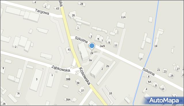 Sokołów Podlaski, Kosowska, 24, mapa Sokołów Podlaski