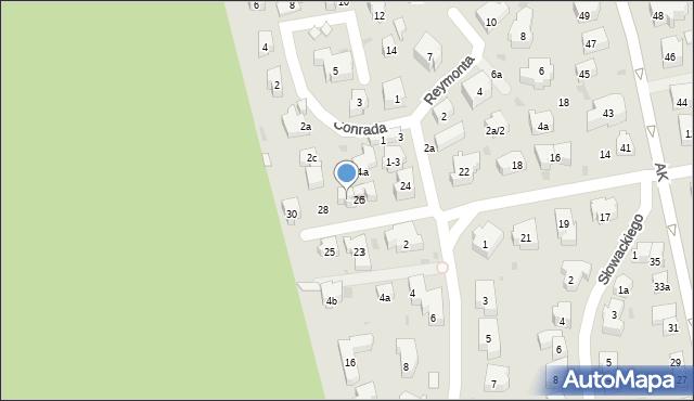 Sopot, Kochanowskiego Jana, 26A, mapa Sopotu