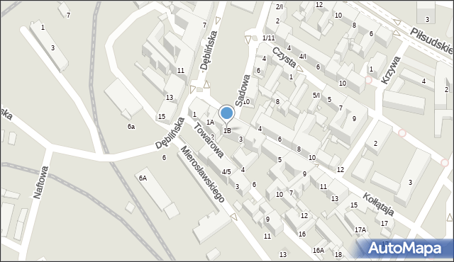 Sosnowiec, Kołłątaja Hugo, 1B, mapa Sosnowca