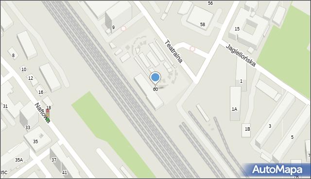 Sosnowiec, Kościelna, 60, mapa Sosnowca