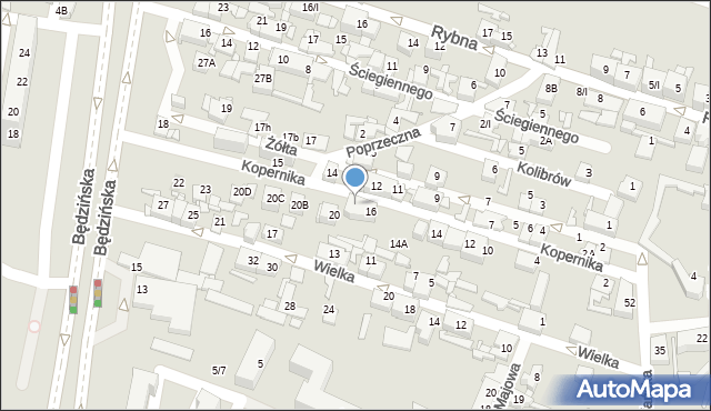 Sosnowiec, Kopernika Mikołaja, 18, mapa Sosnowca