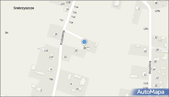 Srebrzyszcze, Kościelna, 18, mapa Srebrzyszcze