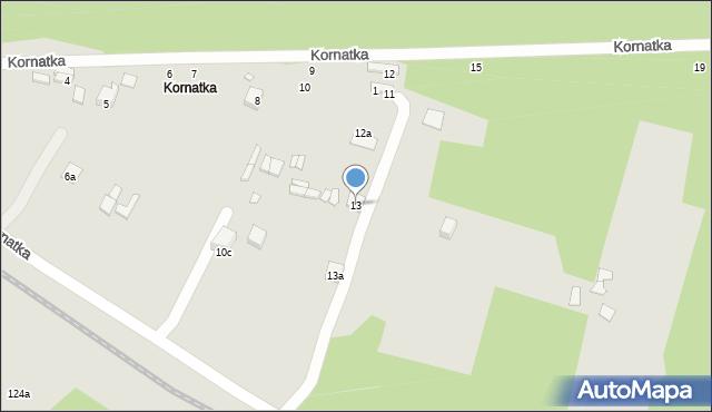 Starachowice, Kornatka, 13, mapa Starachowic