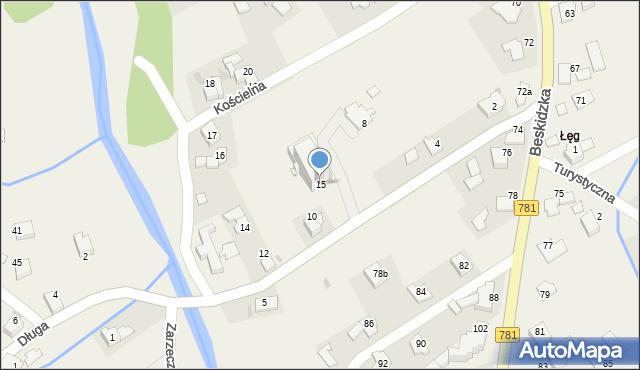 Sułkowice, Kościelna, 15, mapa Sułkowice