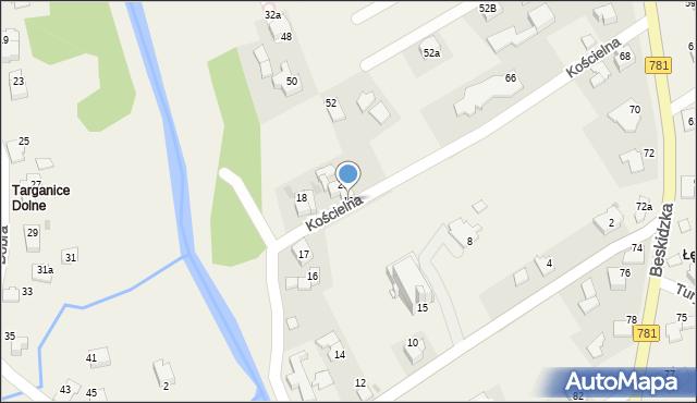 Sułkowice, Kościelna, 19, mapa Sułkowice