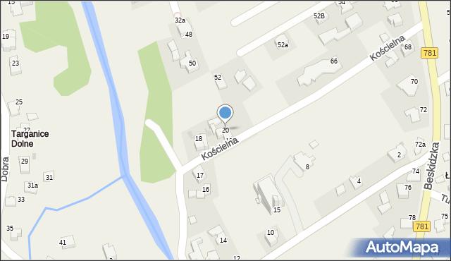 Sułkowice, Kościelna, 20, mapa Sułkowice