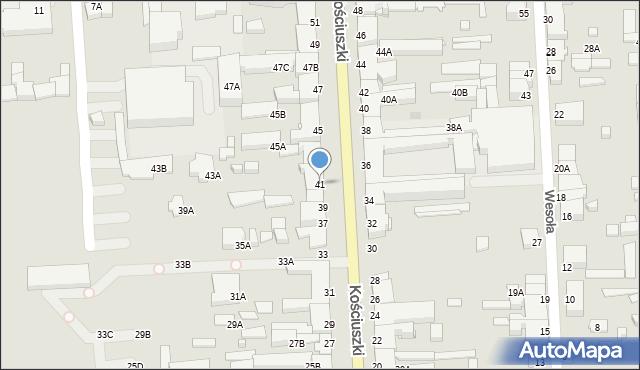Suwałki, Kościuszki Tadeusza, gen., 41, mapa Suwałk