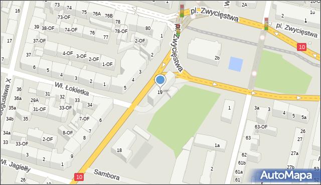 Szczecin, Kopernika Mikołaja, 19, mapa Szczecina