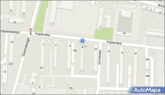 Tarnobrzeg, Kopernika Mikołaja, 8, mapa Tarnobrzegu