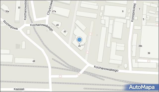 Tarnów, Kochanowskiego Jana, 41, mapa Tarnów
