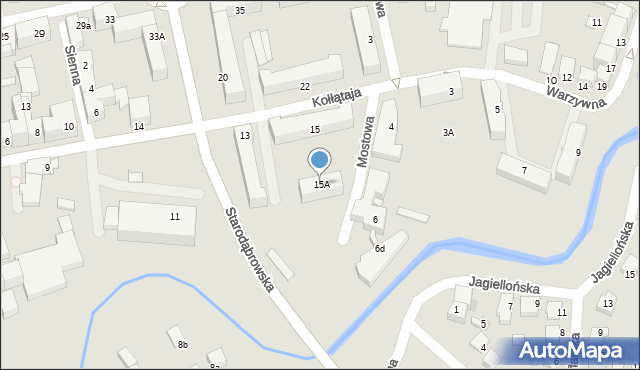 Tarnów, Kołłątaja Hugo, 15A, mapa Tarnów