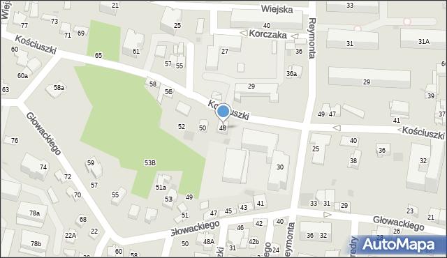 Tarnów, Kościuszki Tadeusza, gen., 48, mapa Tarnów