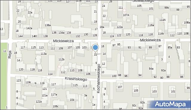 Toruń, Kochanowskiego Jana, 11, mapa Torunia