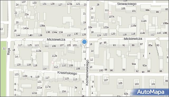Toruń, Kochanowskiego Jana, 13, mapa Torunia