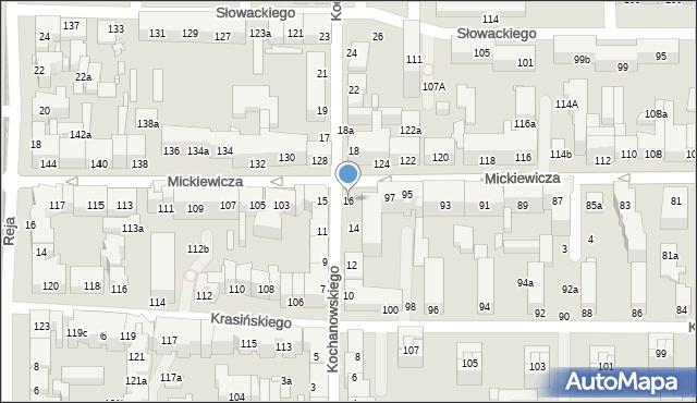 Toruń, Kochanowskiego Jana, 16, mapa Torunia