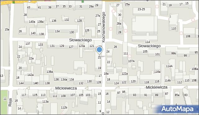 Toruń, Kochanowskiego Jana, 21A, mapa Torunia
