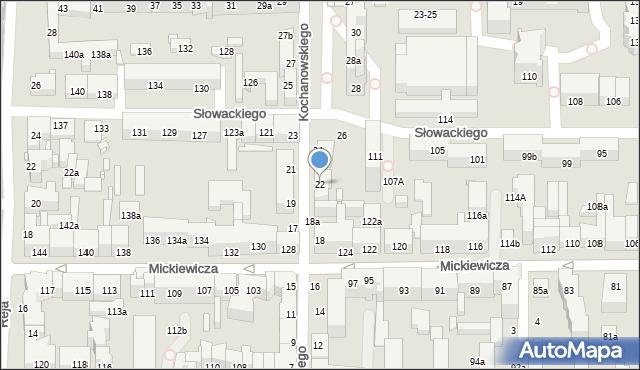 Toruń, Kochanowskiego Jana, 22, mapa Torunia