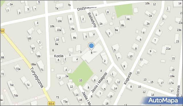 Toruń, Kocia, 6, mapa Torunia