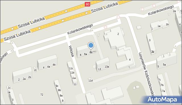 Toruń, Kolankowskiego Ludwika, 6b, mapa Torunia