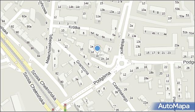 Toruń, Kołłątaja Hugo, 1c, mapa Torunia
