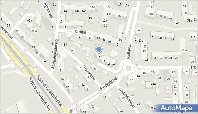 Toruń, Kołłątaja Hugo, 1d, mapa Torunia