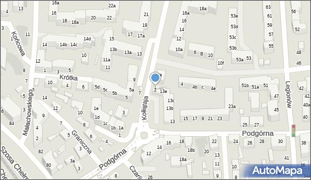 Toruń, Kołłątaja Hugo, 2, mapa Torunia