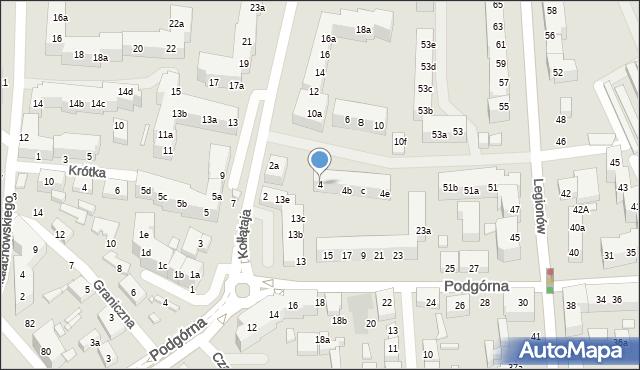 Toruń, Kołłątaja Hugo, 4, mapa Torunia