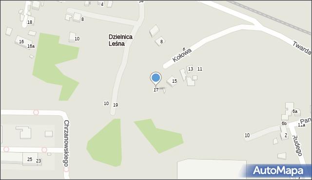 Toruń, Kołowa, 17, mapa Torunia