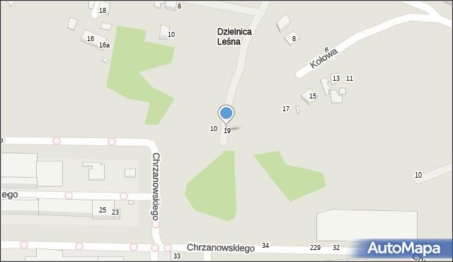 Toruń, Kołowa, 19, mapa Torunia
