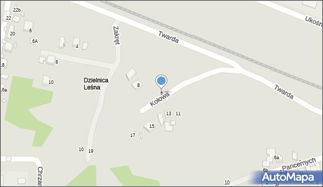 Toruń, Kołowa, 6, mapa Torunia