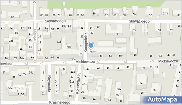 Toruń, Konopnickiej Marii, 28, mapa Torunia