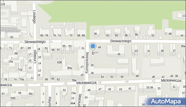 Toruń, Konopnickiej Marii, 32, mapa Torunia