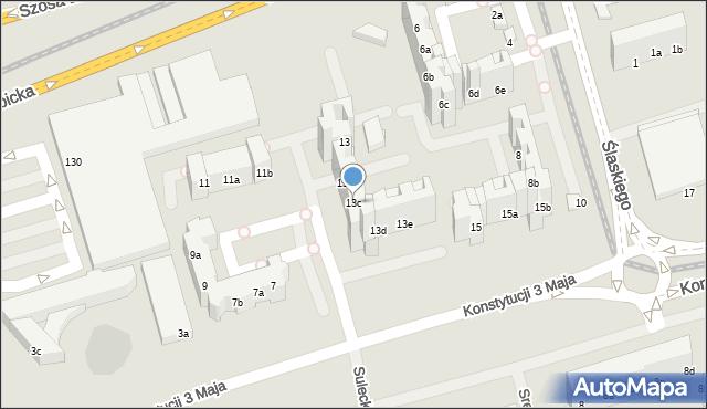 Toruń, Konstytucji 3 Maja, 13c, mapa Torunia