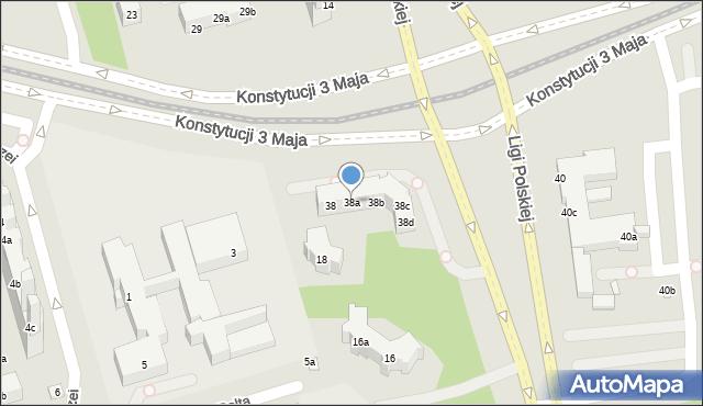 Toruń, Konstytucji 3 Maja, 38a, mapa Torunia