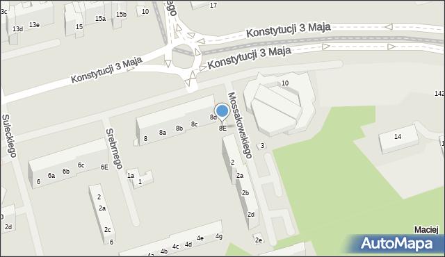 Toruń, Konstytucji 3 Maja, 8E, mapa Torunia