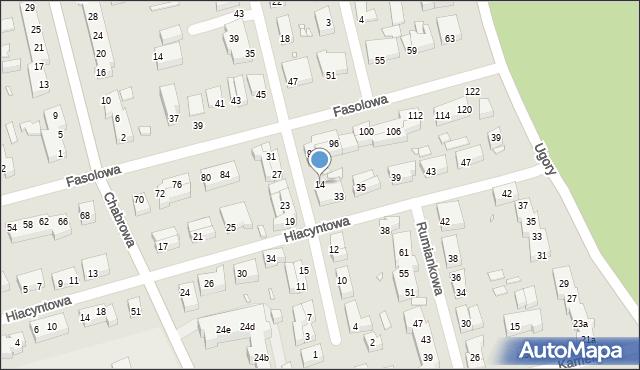 Toruń, Konwaliowa, 14, mapa Torunia