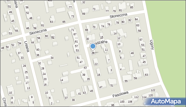 Toruń, Konwaliowa, 26, mapa Torunia