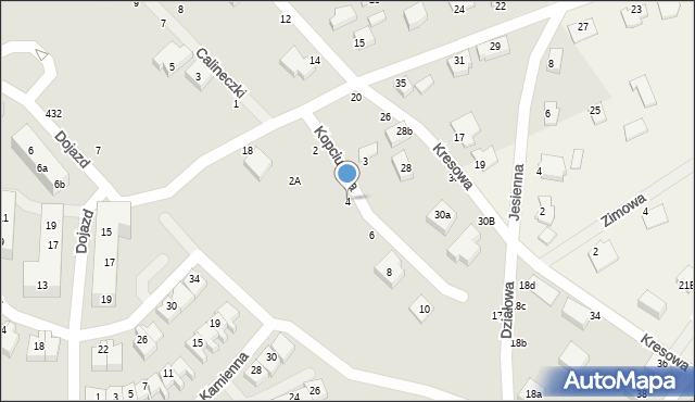 Toruń, Kopciuszka, 4, mapa Torunia