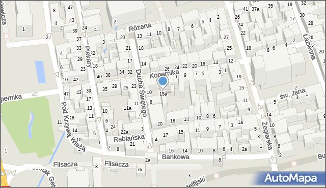 Toruń, Kopernika Mikołaja, 15a, mapa Torunia