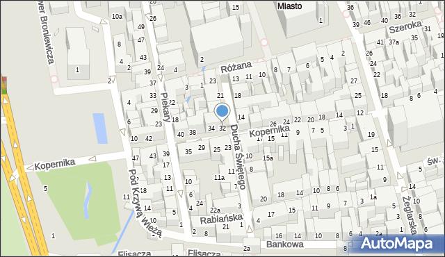 Toruń, Kopernika Mikołaja, 32, mapa Torunia